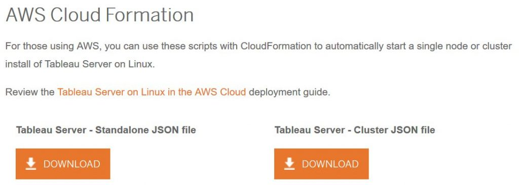 Tableau Server for Linux – Deployment on AWS – RASIA